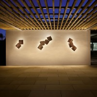 Origami outdoor wall sconce
