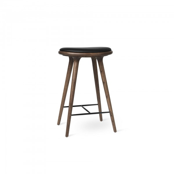 High Stool Dark stained oak - Image 1