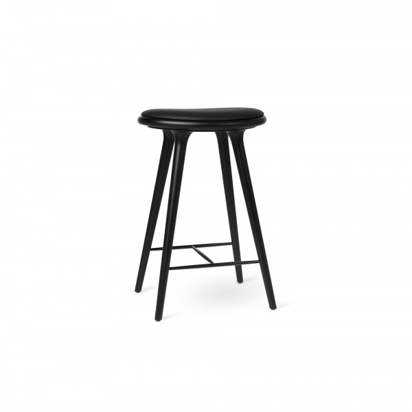 High Stool Black stained beech - Image 1