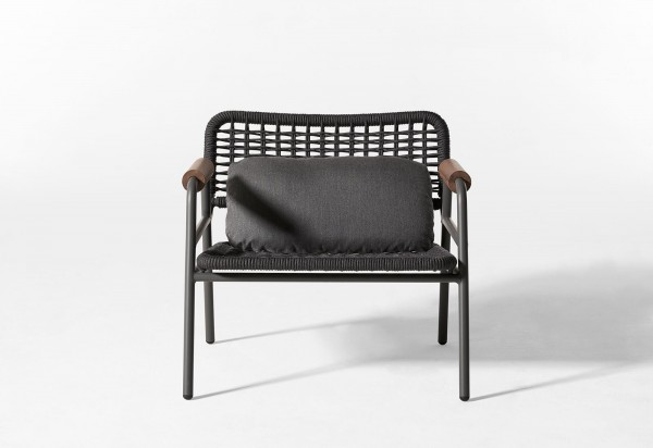 Zoe Wood Open Air Lounge Chair - Image 5