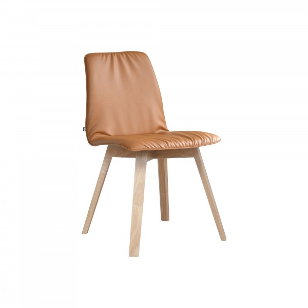 MAVERICK upholstered [4 leg solid wood angular frame] - Image 1